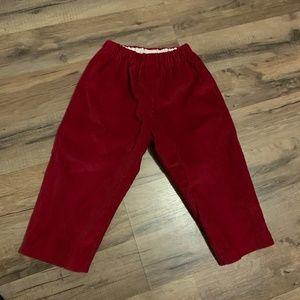 Boys 2Y Oscar de La Renta Red Cordoroy Pant